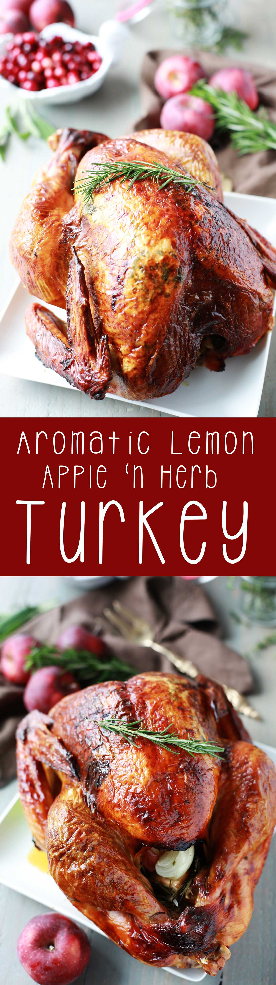 Turkey recipe aromatic lemon apple and herb turkey for How long to cook 11 lb turkey