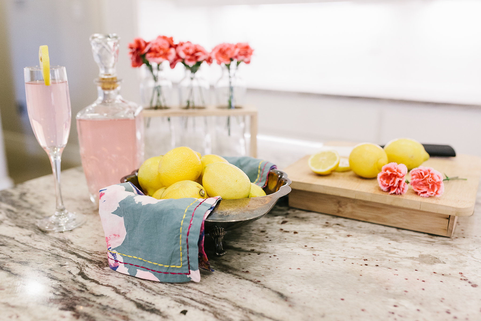 Champagne Lemonade Mocktail by Flirting with Flavor