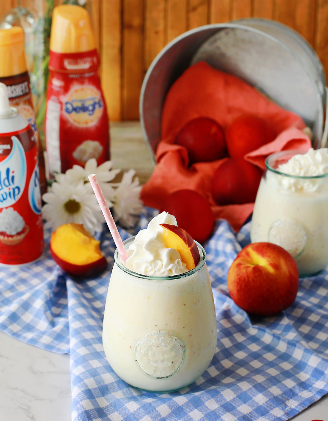 Peach Frappe by Flirting with Flavor!