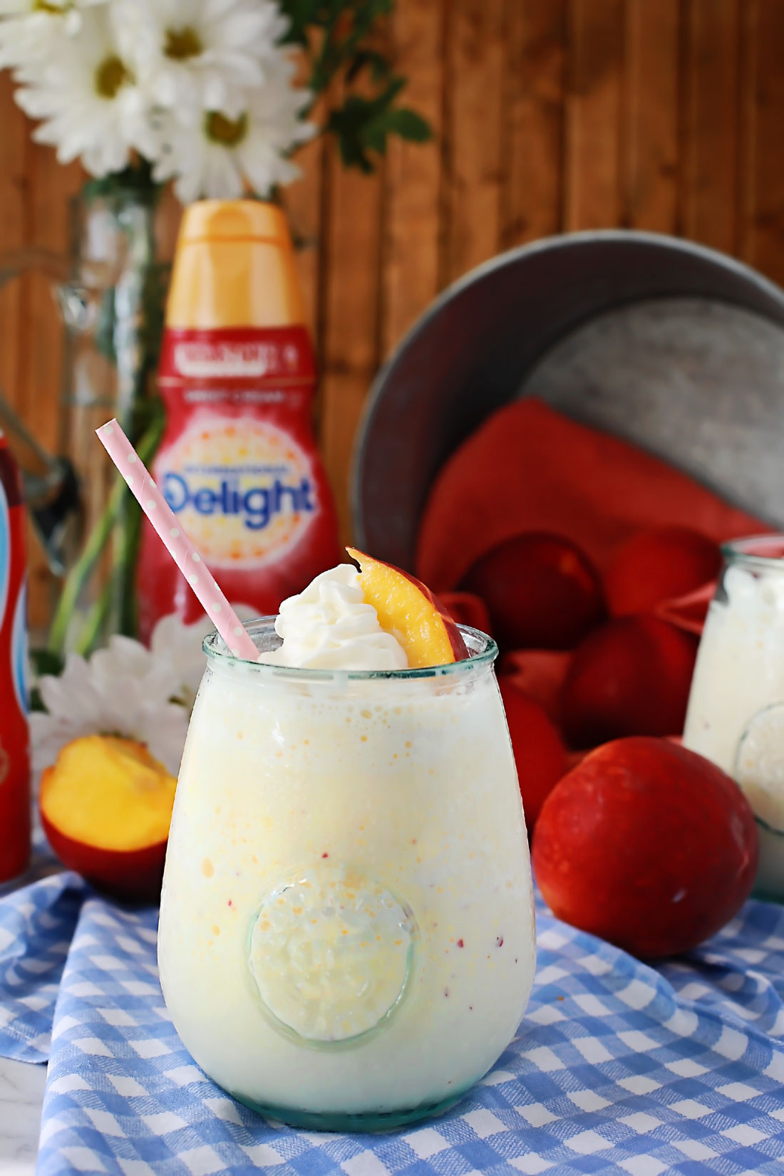 Sweet Cream Southern Peach Frappe by Flirting with Flavor!