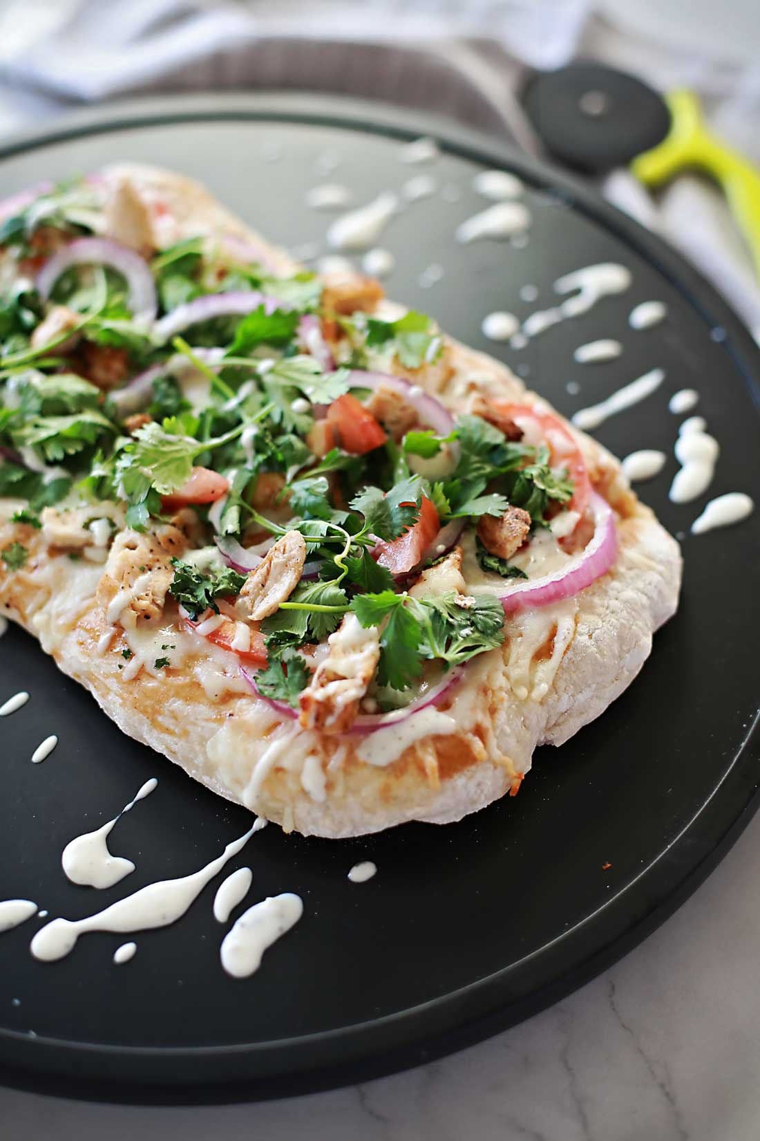 BBQ Chicken Pizza by Flirting with Flavor.