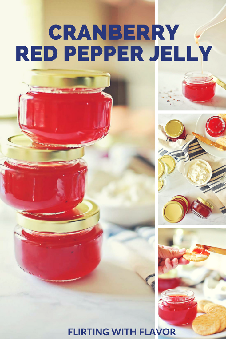 AMAZING REd Pepper Jelly with Cranberry by Flirting with Flavor