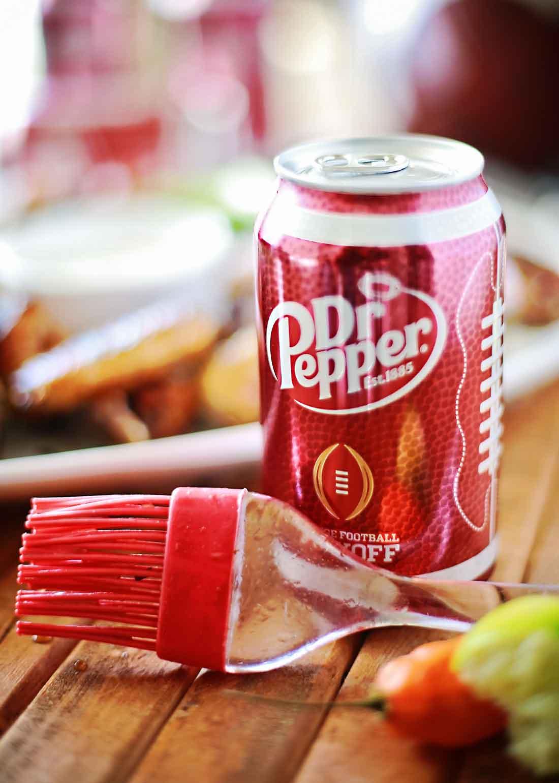 DR Pepper Habanero glazed chicken wings that taste amazing!