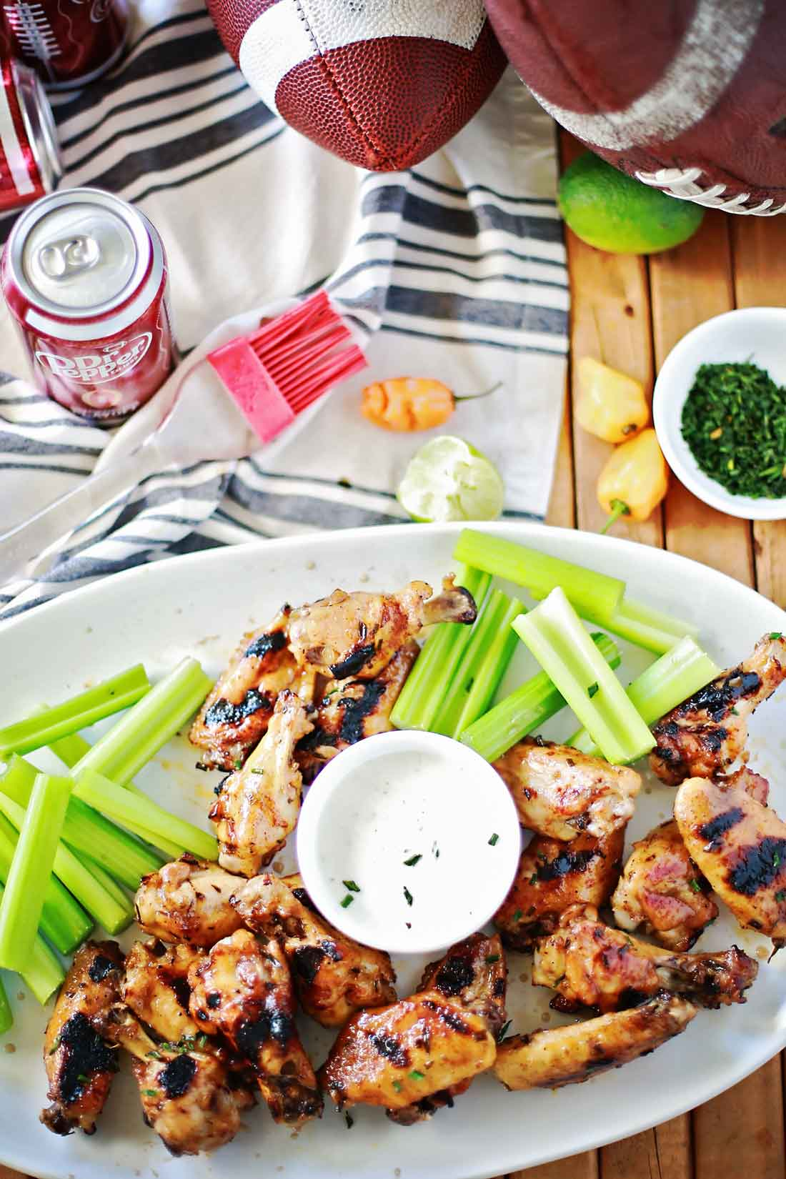 Dr Pepper Habanero Chicken Wings recipe by Flirting with Flavor