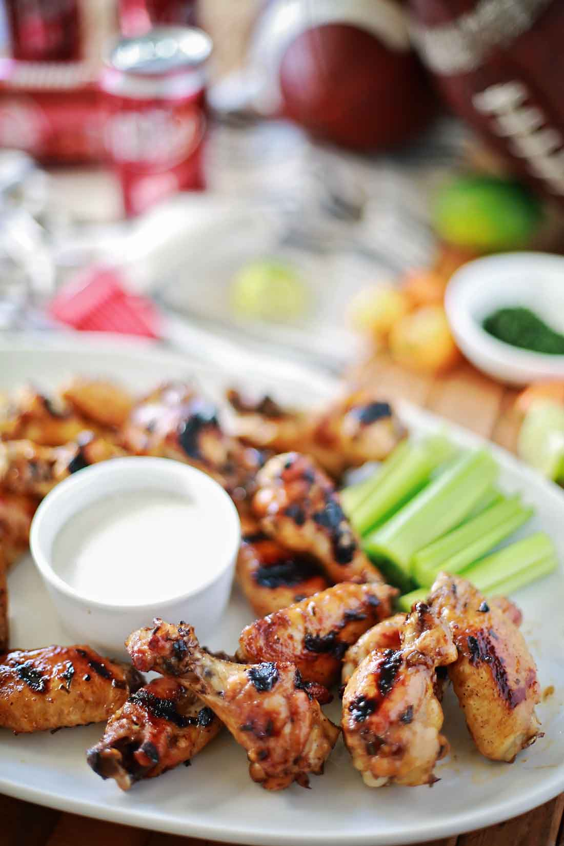 Most AMAZING wings ever! Dr Pepper Habanero glazed chicken wings by Flirting with Flavor