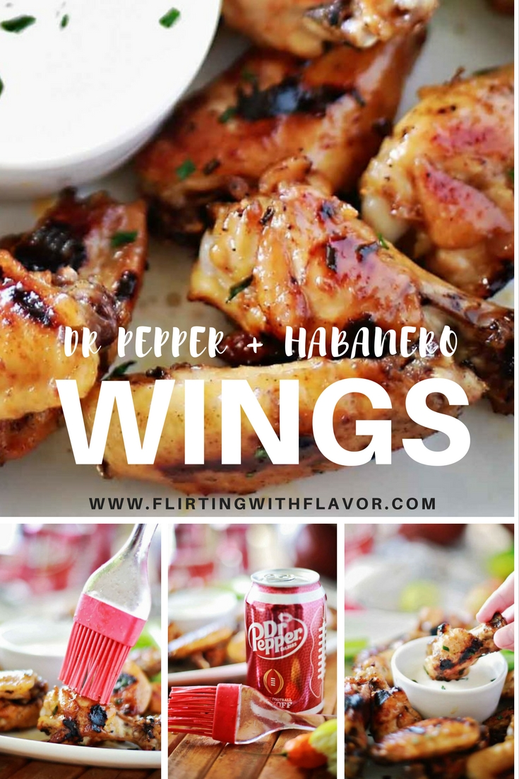 Dr Pepper Habanero Glazed Chicken Wings that are soooo sooo good and perfect for game day! #sponsored
