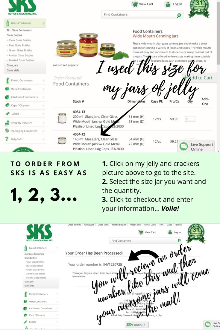 How to order these cute SKS jars