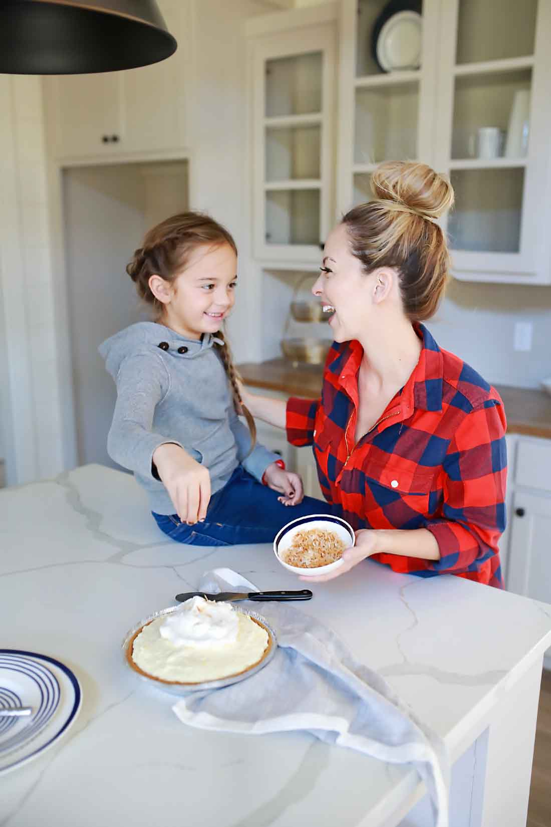 Making pies together helps relationships grow stronger!