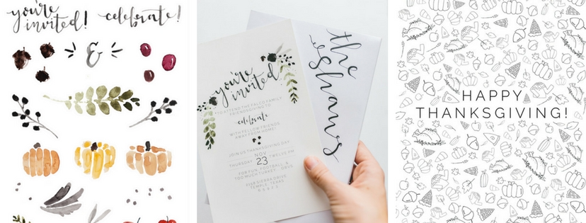 Cute Graphics and invites for THanksgiving Feast!