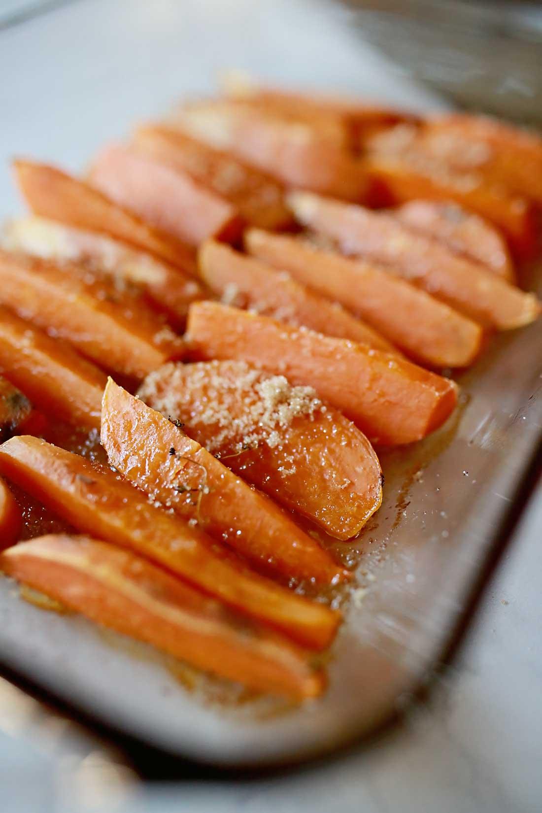 Sweet Potato Casserole recreated into caramelized sweet potatoes!