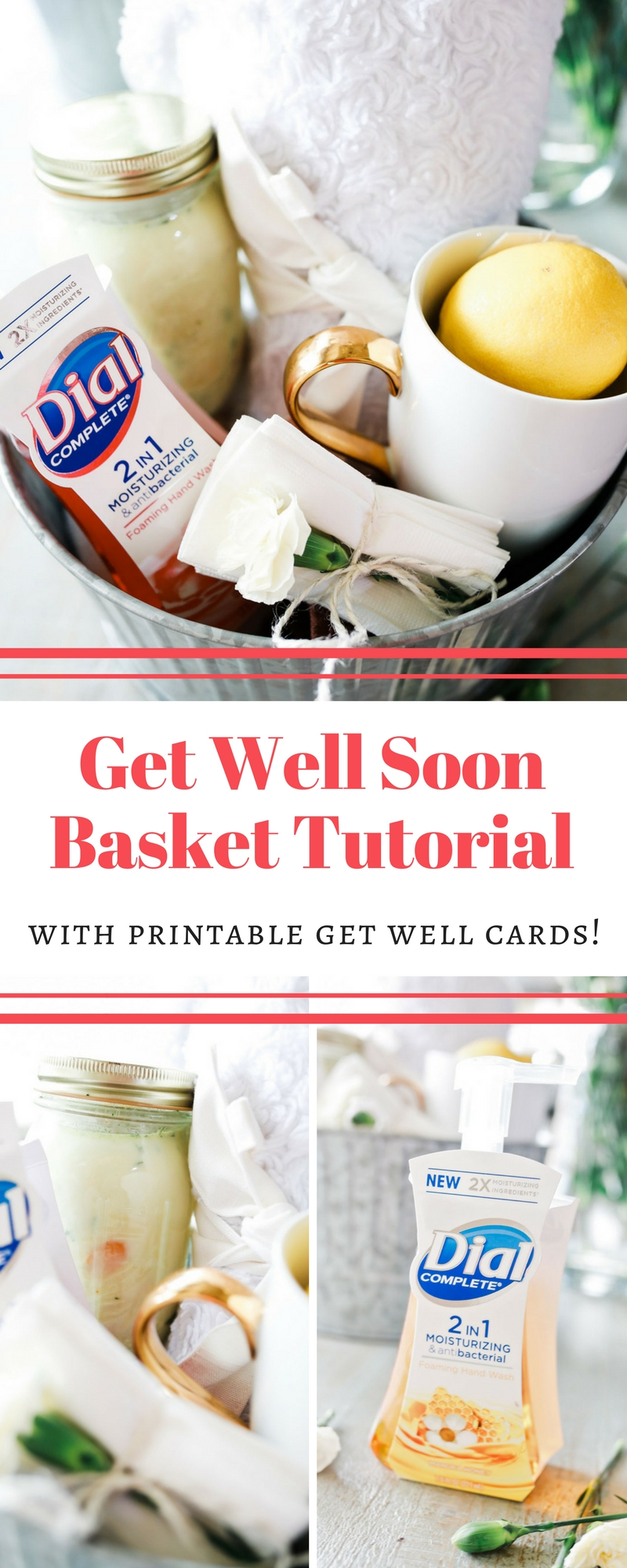Get well soon gift idea with free printable card! #ad #Dial2in1 #CollectiveBias