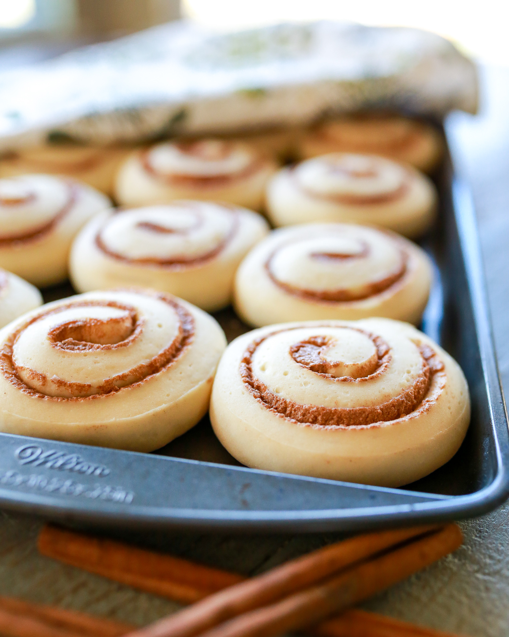 Semi homemade eggnog cinnamon rolls for Christmas morning breakfast. Soft and Fluffy, sweet with the perfect hint of holiday spice.