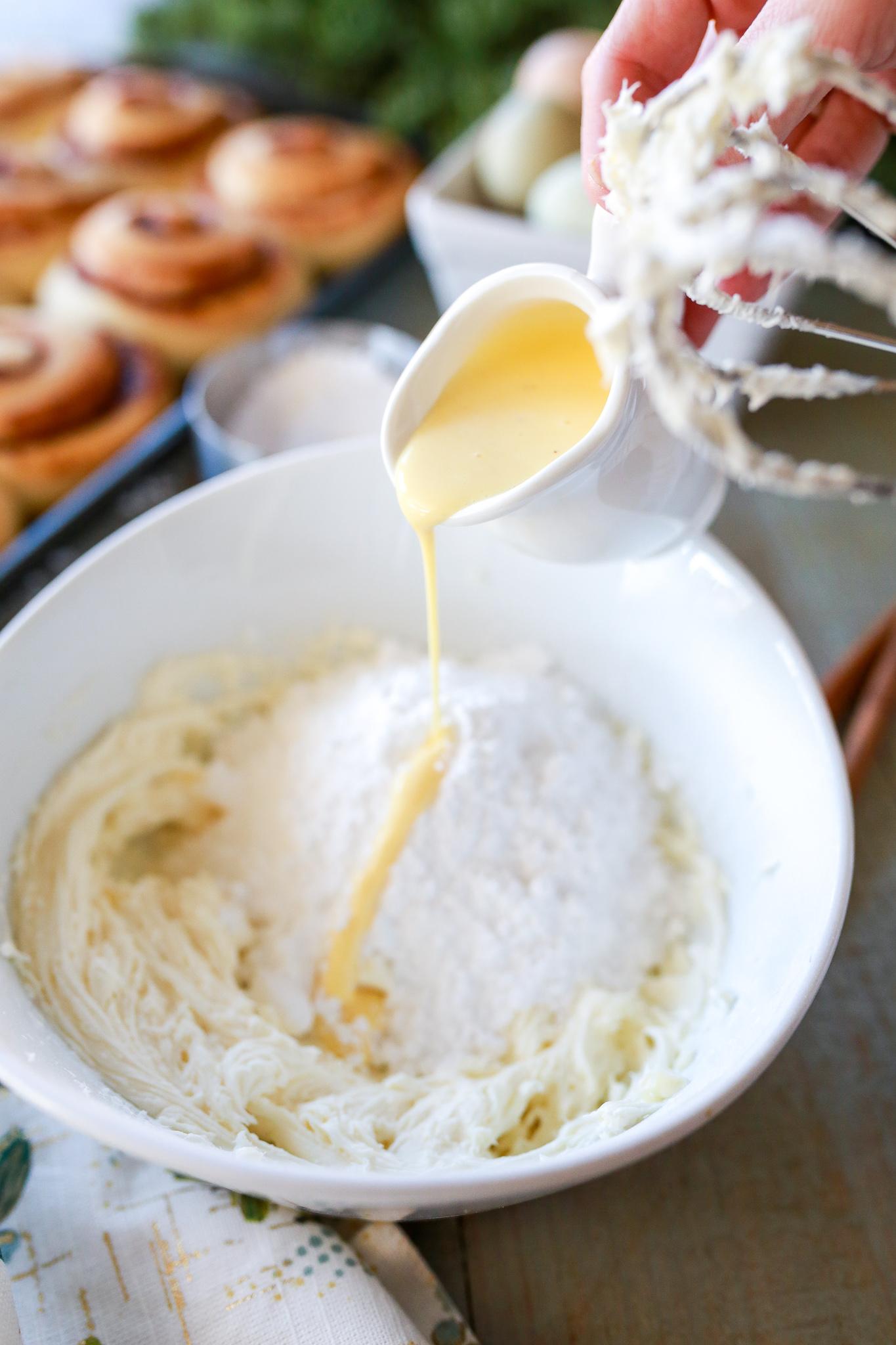 Eggnog frosting!