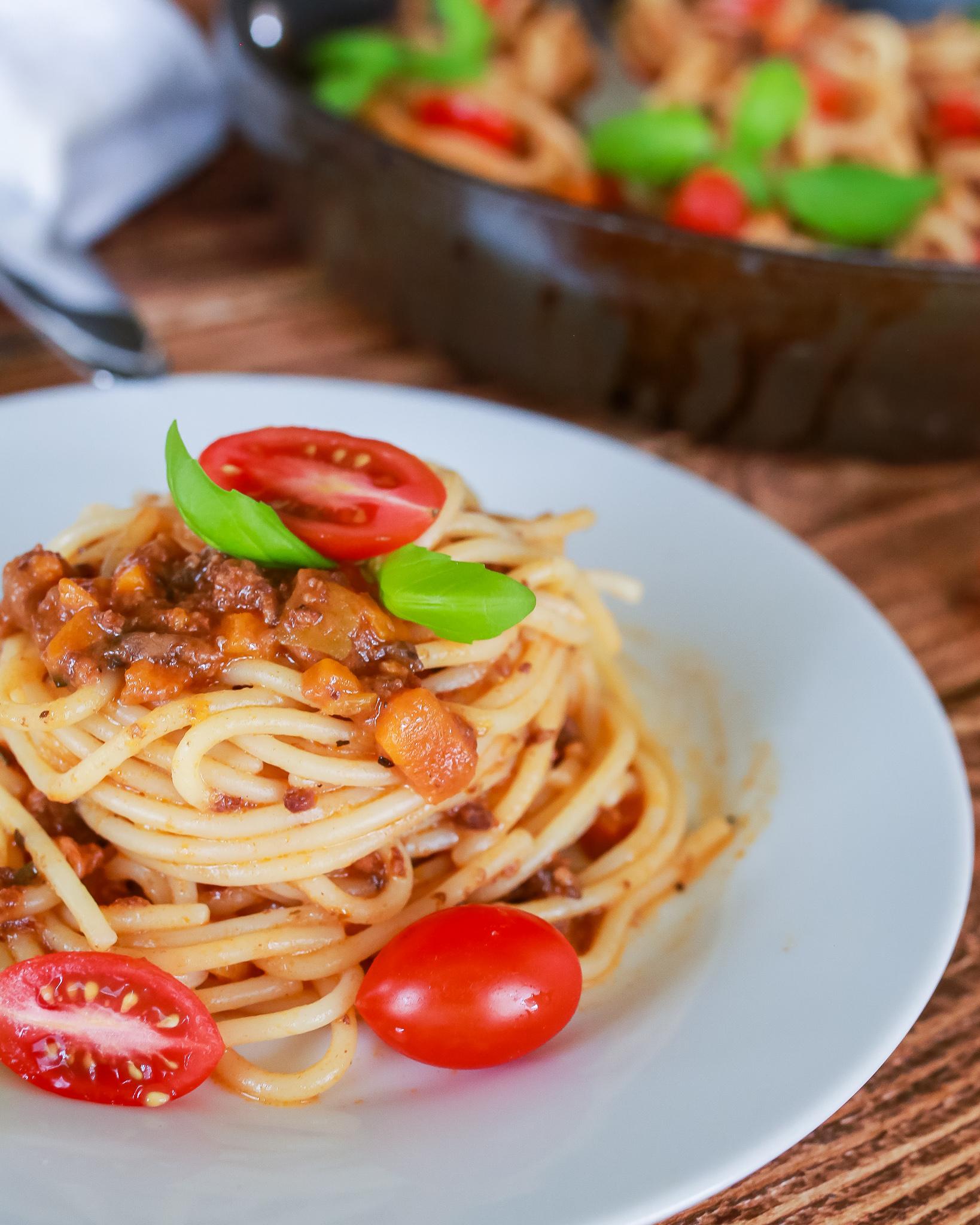Homemade Italian meat sauce recipe with veggies in it!