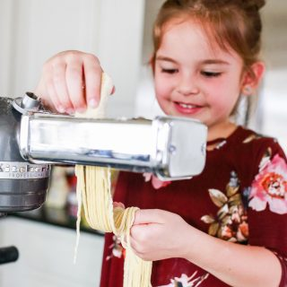 Making noodles with kids easy recipe