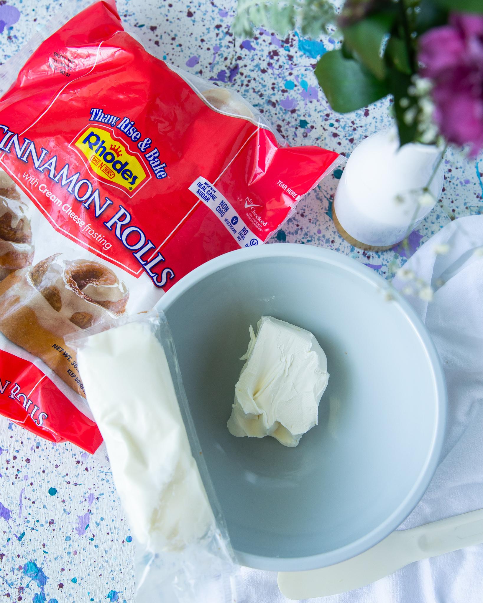 Cream Cheese Cinnamon Rolls frosting