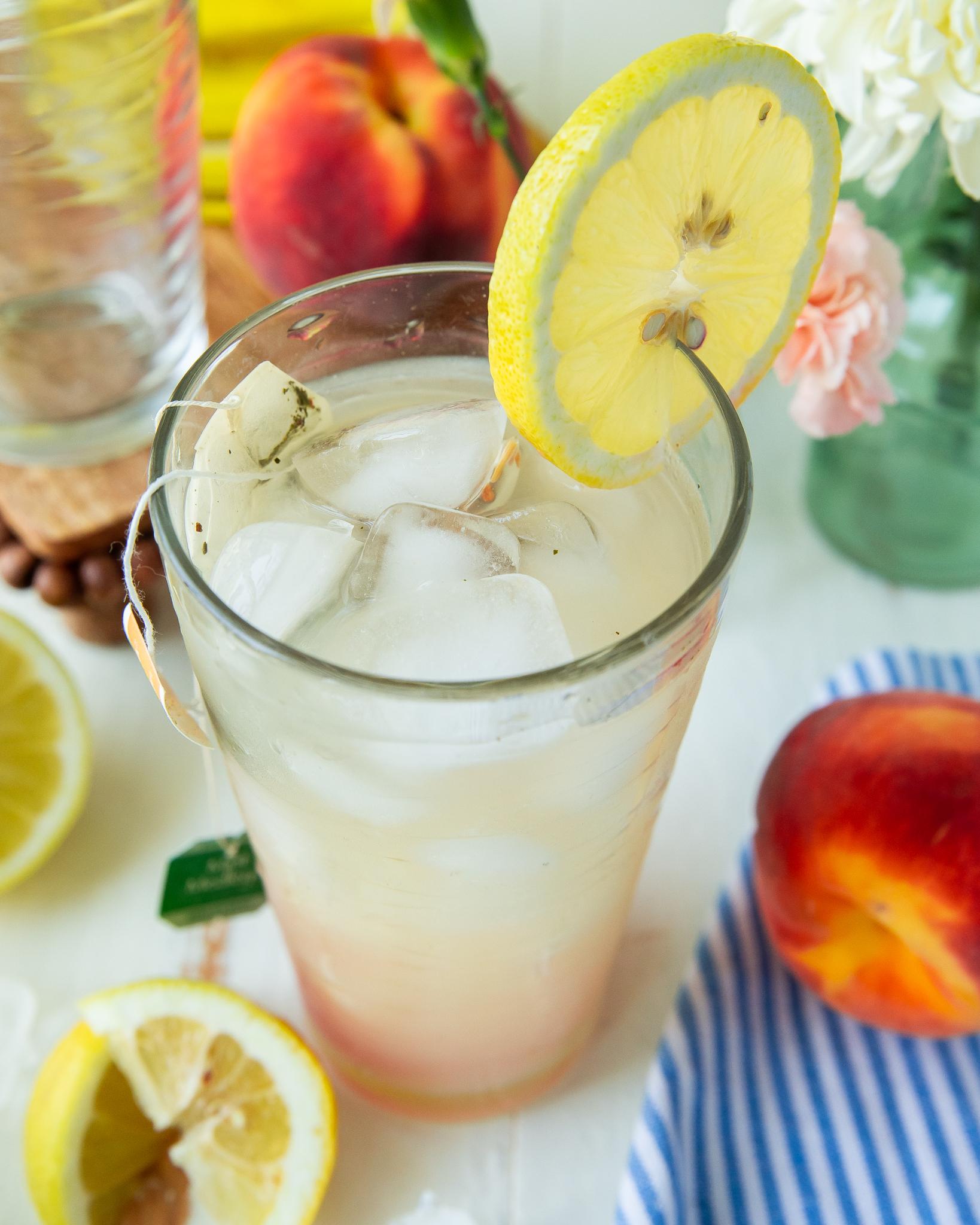 Mint and Peach caffeine-free lemon tea