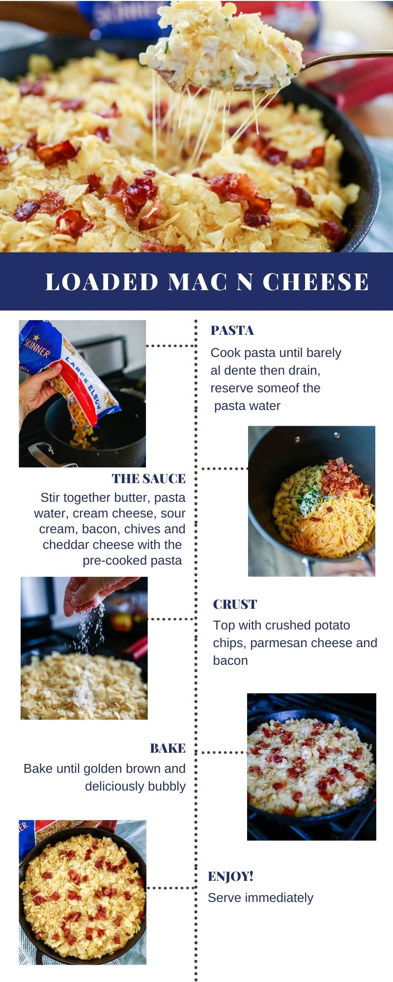 Loaded Mac and Cheese recipe! so good