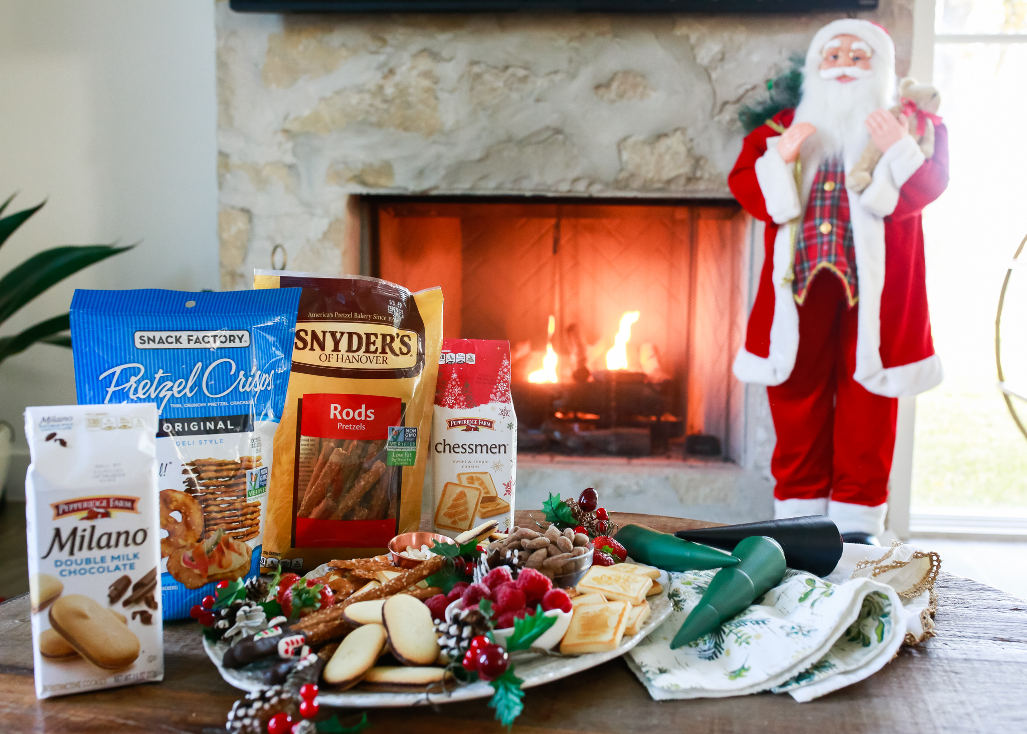 The most delightful holiday Christmas spread.